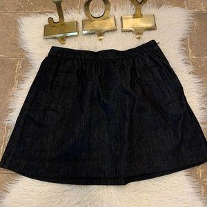 J.CREW A-line Fit & Flare Dark Wash Jean Skirt
